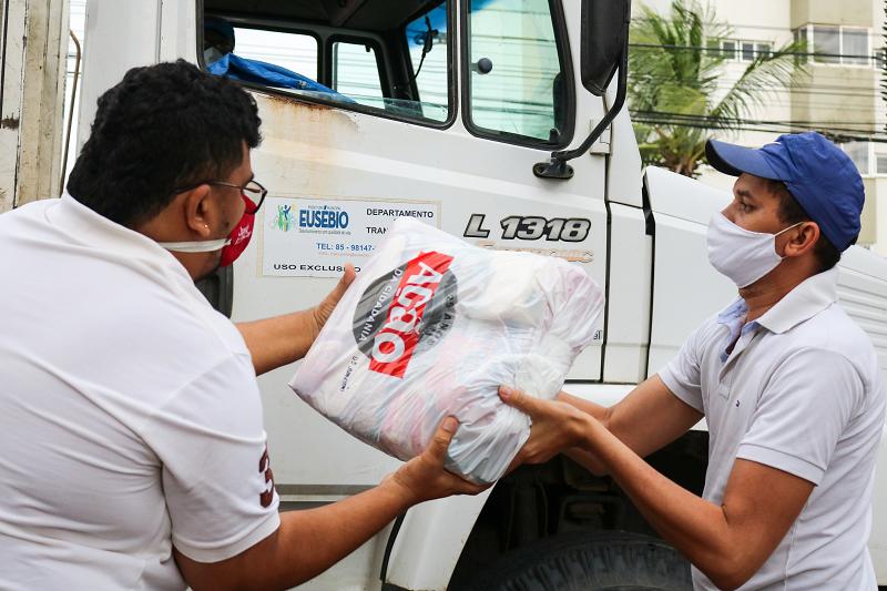 Inec distribui mais 7.150 cestas básicas e kits de higiene nos estados do CE, AL, SE, PI, RN e ES