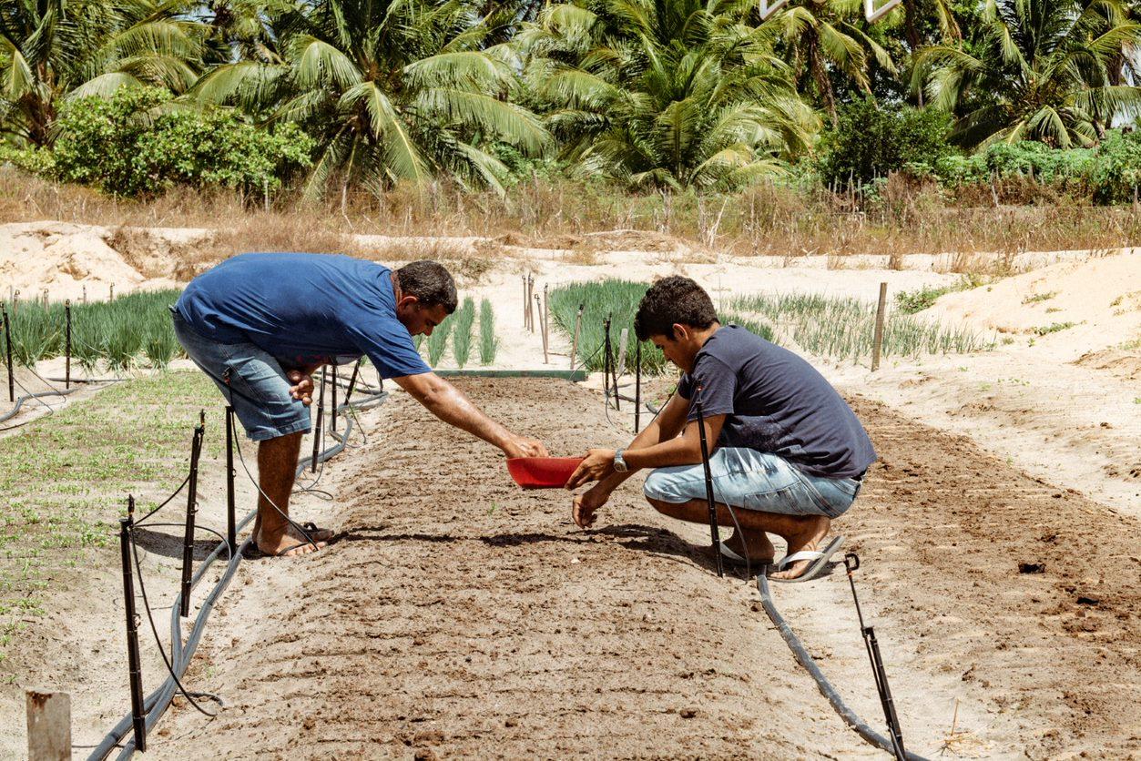 Agricultores Agroamigo agua
