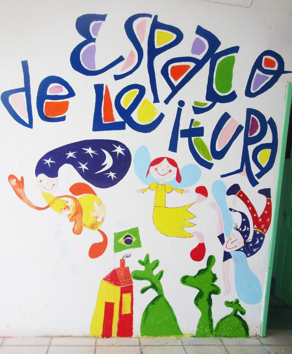 mural do espaço de leitura