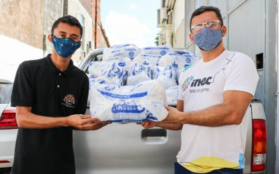 Inec e Ação da Cidadania doam 1.500 cestas básicas em Fortaleza