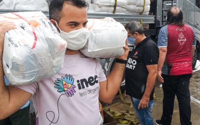 Inec doa duas mil cestas básicas da Campanha Brasil Sem Fome